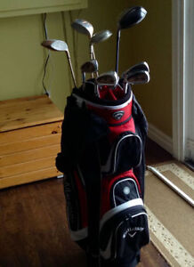 Ladies Left Golf clubs and Bag