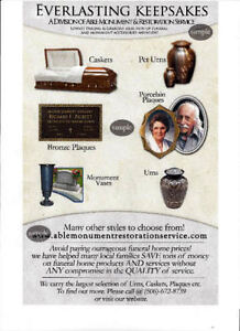 LARGEST CANADIAN SUPPLER OF CREMATION URNS & FUNERAL SUPPLIES Kingston Kingston Area image 9