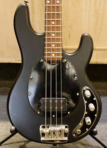 MUSIC MAN SUB TEXTURED BLACK BASS GUITAR