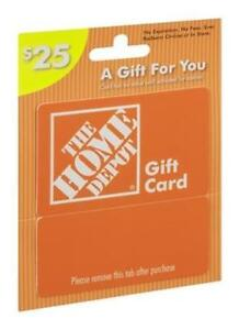 Home Depot Gift Card $25 for $15