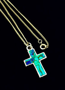 Multi-coloured Cross Necklace Kingston Kingston Area image 1