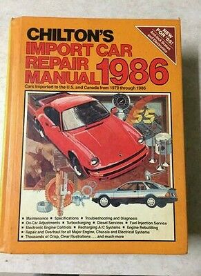 Import Auto Service Repair (CHILTONS MANUAL AUTO REPAIR SERVICE 1979-1986 IMPORT CAR AUTOMOTIVE)