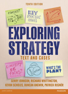 Exploring strategy 10th edition text book