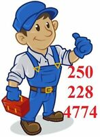 Plumber available for repairs in Parksville, Qualicum Beach.