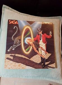 SAGA HEADS OR TALES VINYL ! ORIG PRESS MINTY !
