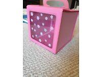 Girls pink make up box
