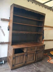 Solid Pine Large Welsh Dresser - Wooden Furniture Display Cabinet