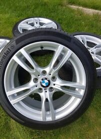 "18"" GENUINE BMW 3 4 SERIES 400 M SPORT ALLOY WHEELS F30 F31 E90 E91 E46 NOT 440M"