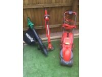 Lawn Mower, Strimmer and Leaf Blower