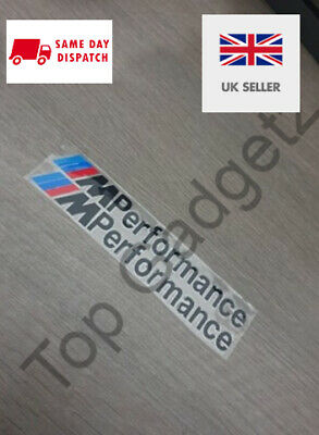 BMW M SPORT PERFORMANCE STICKER BADGE DECAL BLACK SET FREE