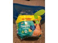 kids jumbo pampers (+ free bath tub)