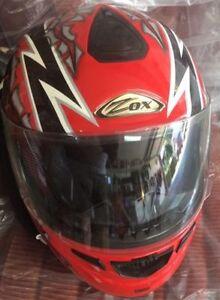 Zox helmet. Full face. Medium DOT  Mint