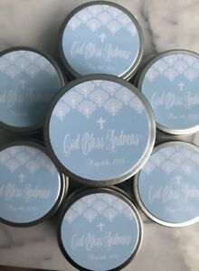 CUSTOMIZED Soy Candle Favours Party Baptism Baby Shower Wedding