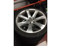 "£399 VW T5 20"" alloys and 25/35/20 Tyres. Set of 4. Good tyres (1 new)"