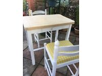 Butchers Block and Two Stools