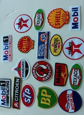 18 GAS/OIL Easy Sew/Iron On WHOLESALE 3. 4. Inch PATCHES
