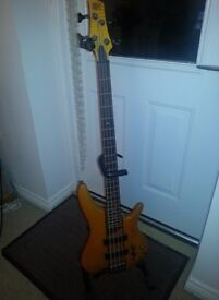 Ibanez SR700 Amber 4 String Bass + Accessories