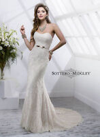 Maggie Sottero Size 4 Lace Wedding Dress In Ivory $600 OBO