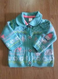 Girl Winter Cardigan (3-6 months)