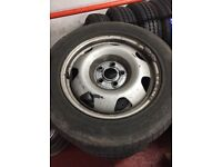 "£299 VW T5 17"" Steels and 235/55/17 Tyres. Set of 4. Good tyres."