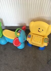 Two fisher price toys for sale , learn and play sit chair