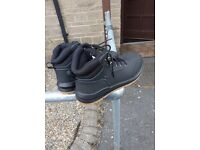 Size 7 Grafters Nubuck Leather Suede Steel Toe Work Safety Ankle Boots