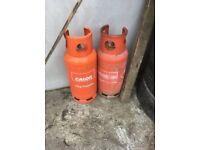 Empty 19kg propane gas bottle