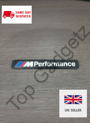 M SPORT PERFORMANCE INTERIOR STICKER BADGE DECAL BLACK FREE UK P&P