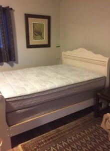 New double mattress with wooden frame