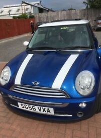 Electric Blue Mini Cooper for sale