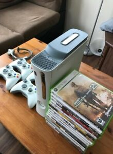 XBOX 360 Console, Controllers, & Games