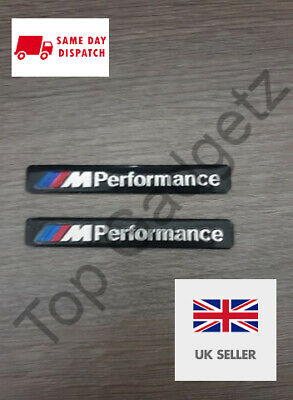 2X M Sport Performance Alloy Wheel Badge Sticker Stickers Emblem Decal For BMW
