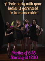 Pole Fitness Bachelorette Parties in Kingston!