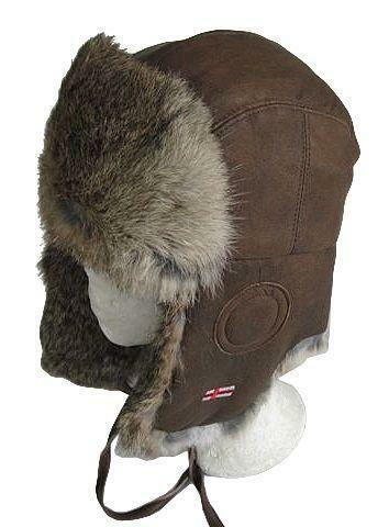Leather Trapper Hat  9342314457a