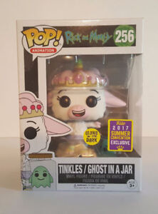 Tinkles with Ghost in a Jar Glow in the dark funko pop RARE!
