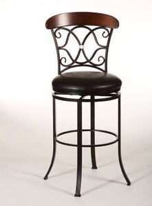 Hillsdale Dundee Swivel Bar Stool In Dark Coffee - Top Quality