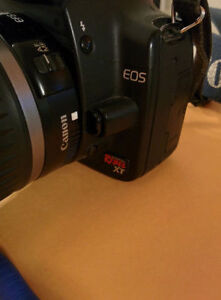 Canon Rebel camera. EOS  XT with EFS 18mm-55mm lens