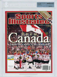 Team Canada SIDNEY CROSBY OLYMPICS SPORTS ILLUSTRATED Beckett Cambridge Kitchener Area image 1