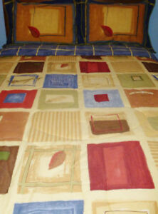 """* WHOLE HOME -Autumn Breeze 4-Piece Double Comforter Set 76""""x88"""""""