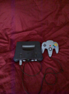 n64 w/ 12 games, 1 controller and memory card