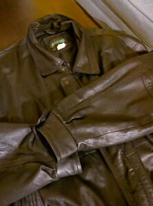 Genuine Black Leather Jacket...Made in Canada XL