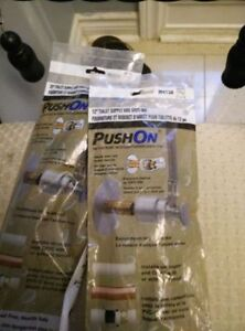 """Moen 20"""" and 12"""" pushon toilet supply *Sealed*"""