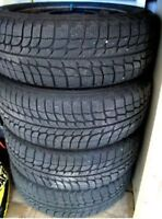 4 Michelin x-ice tires On RIMS!!205/65/15 Winter tires>125$/each