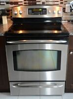 GE Profile Fridge and Stove Set in amazing condition