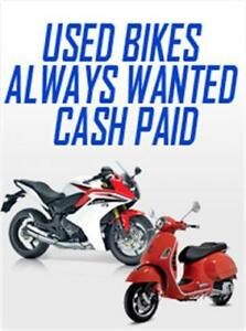 WANTED: USED MOTORCYCLES