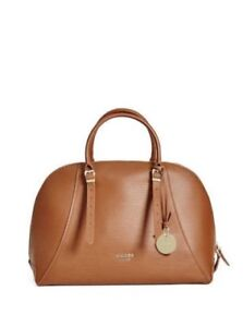 GUESS COGNAC LADY LUXE GENUINE LEATHER PURSE / SATCHEL NWT