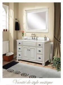 Vanité 48'' style rustique érable-marbre/Vanity rustic Maple