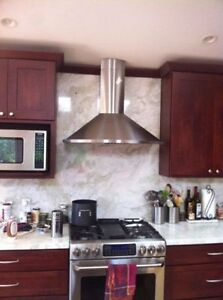 1.5 years old Stainless steel range hood for sale