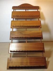 Vintage wood spoon rack holder display - holds 72 spoons Cambridge Kitchener Area image 1