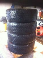 LIKE NEW!! SET 4X- 195/65R15 GENERAL ALTIMAX ARCTIC WINTER TIRES